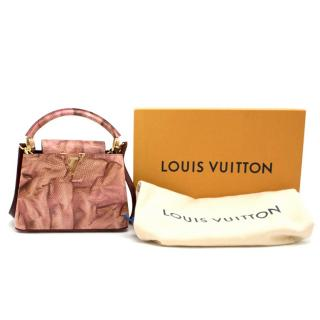 Louis Vuitton Pink Capucines Mini Lizard Bag