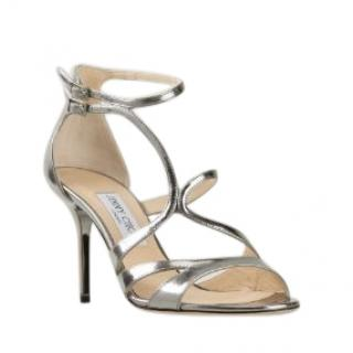 Jimmy Choo Silver Fenzy strappy sandals