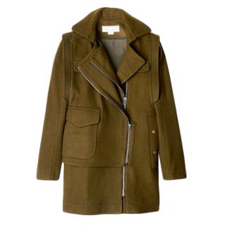 O'2nd Khaki wool blend coat