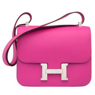 Hermes Evercolor Leather Constance 24 in Magnolia PHW