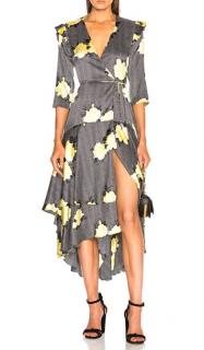 Ganni Silk Stretch Crepe Calla Dress