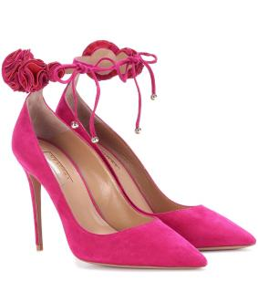 Aquzzura Desert Rose 105 Suede Pumps