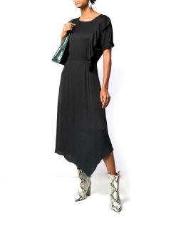 Essentiel Antwerp Black Tito Midi Dress