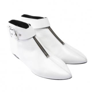 Isabel Marant White Zip Front Boots