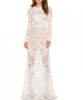Alexis White Lace Vice Gown