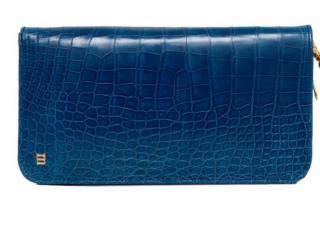 Rubeus Milano blue crocodile wallet