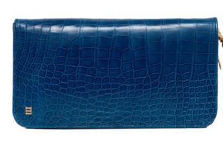 Rubeus Milano blue crocodile wallet