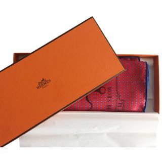 Hermes Mors De Selle Printed Silk Scarf