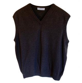 Ermenegildo Zegna Mens Sleeveless 100% Wool Sweater