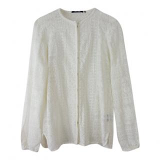 Isabel Marant White Embroidered Blouse