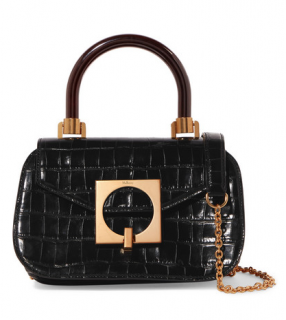 Mulberry Mews Glossed Croc-effect Top Handle Bag