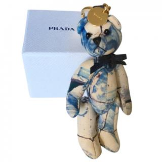 Prada Blue Tie-Dye Teddy Bear Bag Charm
