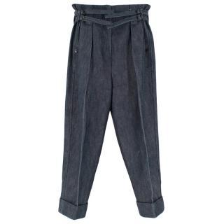 Bottega Veneta Paperbag Waist Denim Pants