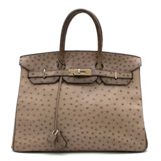 Hermes Mousse Ostrich Leather 35cm Birkin