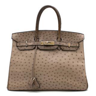 Hermes Mousse Ostrich Leather 35cm Birkin