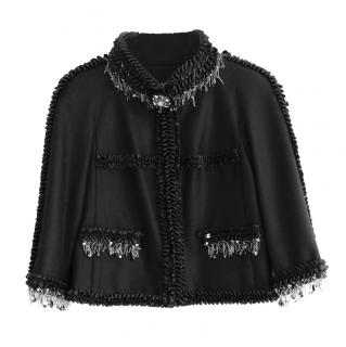 Chanel Pre-Fall Metiers D'Art Wool & Cashmere Embellished Short Jacket