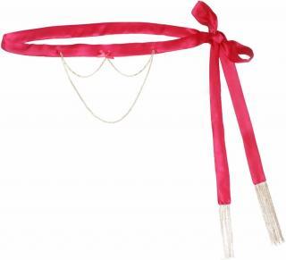 Maguy de Chadirac Pink & Gold Chain Detail Waist Belt