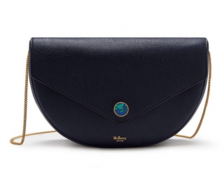 Mulberry Navy Brockwell Clutch on Chain