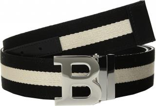 Bally logo buckle reversible belt