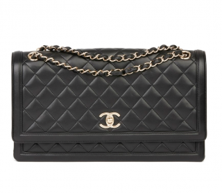 Chanel Classic Quilted & Smooth Leather Flap Bag
