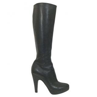 Prada Black Long Heeled Boots