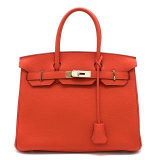 Hermes Togo Leather Capucine Birkin 30 PHW