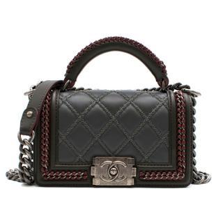 Chanel Paris-Salzburg Limited Edition Grey & Burgundy Top Handle Boy B