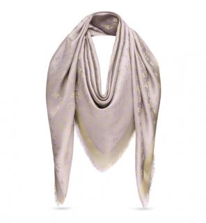 Louis Vuitton Monogram Silk Shine Shawl in Greige