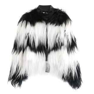 Valentino Mongolian Goat Hair Black & White Jacket