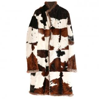 Gucci by Tom Ford Patchwork Fur Coat