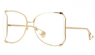 Gucci GG0252S Clear Oversize Sunglasses