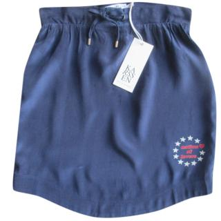 Zoe Karssen Nation of Lovers Blue Mini Skirt