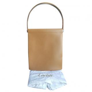 Cartier Beige Trinity Top Handle Bag