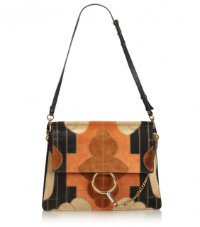 Chloe Suede Patchwork Faye Shoulder Bag