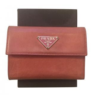 Prada Pink Bi-Fold Wallet