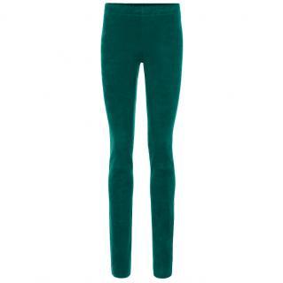 Stouls green leather leggings