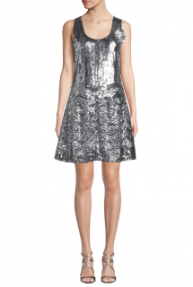 Michael Michael Kors Sequined Scoop-Neck Sleeveless Dress