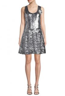 Michael Michael Kors Sequined Scoop-Neck Sleeveless Dress