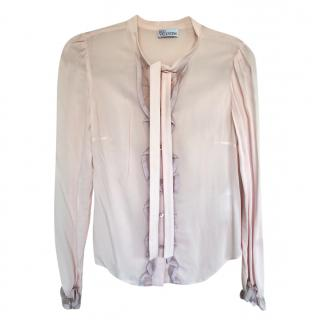 Red Valentino Pink Ruffled Blouse