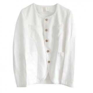 Black Comme Des Garcons White Jacket