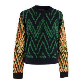 Duro Olowu Virgin Wool Zig-Zag Knit Jumper