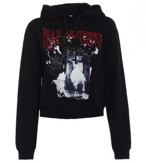 McQ by Alexander McQueen Fear Nothing Crop Hoodie