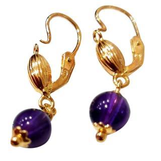Unoaerre Amethyst Hook Earrings