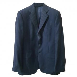 Ermenegildo Zegna black australian superfine wool blazer/jacket