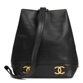 Chanel Caviar Leather VIntage Bucket Bag