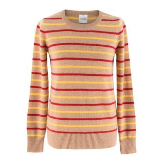 Madeleine Thompson Striped Cashmere Crew-Neck Jumper