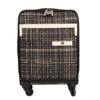 Chanel Tweed & Leather Jacket Rolling Suitcase