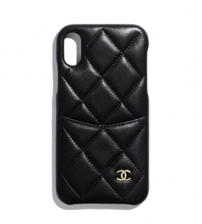 iPhone XS Max Quilted Leather Phone Cover W/Pocket