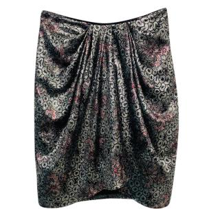 Isabel Marant Metallic Brocade Draped Skirt