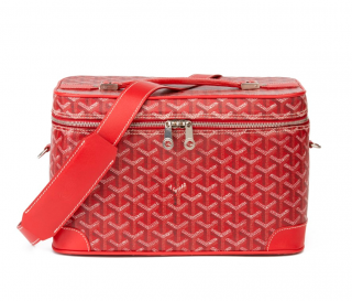 Goyard Red Monogram Train Case